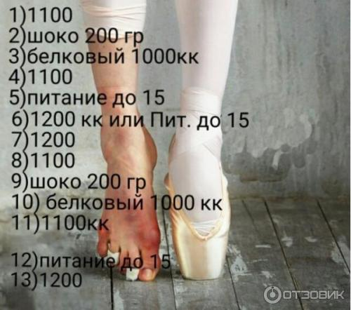 Диета Балерины Отзыв.
