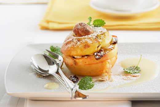 яблоки запеченные в духовке с медом рецепт с фото
